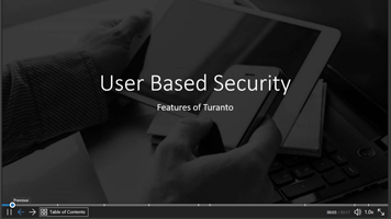 User Based Security